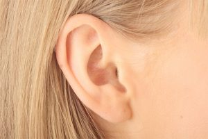 Ear Blonde Woman