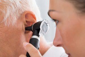 Examining the ear